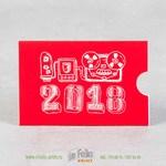 Конверт для пластиковой карты к Новому 2018 году
