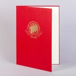 Красная папка для вречения диплома