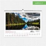 Шаблон №2 настенного горизонтального календаря А3