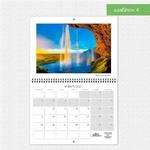 Шаблон №4 календаря А3 складной