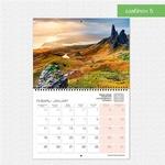 Шаблон №5 календаря А3 складной
