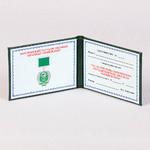 Тангерная сетка на удостоверении