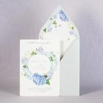 Свадебный конверт с рубашкой из синих цветов